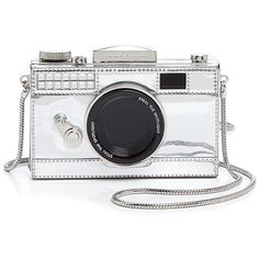 kate spade new york Steal The Spotlight Camera Crossbody (2.525 VEF) ❤ liked on Polyvore featuring bags, handbags, shoulder bags, silver, white cross body handbag, white purse, kate spade shoulder bag, kate spade and silver purse
