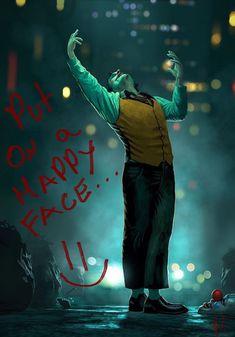 Put on a happy face! Joker Comic, Le Joker Batman, Joker Film, Der Joker, Joker And Harley Quinn, Joker Iphone Wallpaper, Joker Wallpapers, Tank Wallpaper, Joker Poster