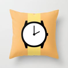 #87 Watch Throw Pillow by MNML Thing - $20.00