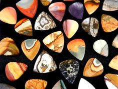 Out of all the stones I use to create guitar picks Polychrome Jasper AKA Desert Jasper is my favorite. Most people think I am talking about a. Custom Guitar Picks, Custom Guitars, Unique Guitars, Vintage Guitars, Sound Of Music, Music Is Life, Bass, Guitar Photos, Gambling Games