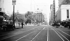 6th St. Look East at Olive-late 1930s