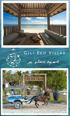 """WE LOVE GILI ECO VILLAS !!! ...and we want to send you there for two nights to love them too !!  """"Like and Share"""" our Lost in Paradise page and your will be eligible to win !!"""
