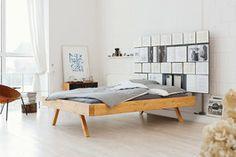 DIY-Anleitung: Bett mit Bücherwand selber bauen via DaWanda.com