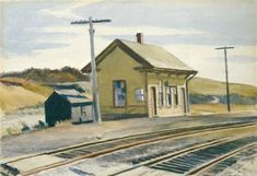 'hacia Boston', acuarela de Edward Hopper (1882-1967, United States)