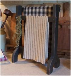 Primitive Towel Or Dry Rack Farmhouse Kitchen Or Bathroom / Original Design…