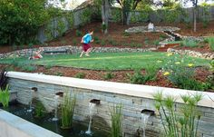Contemporary Sloped Backyard Design, Pictures, Remodel, Decor and Ideas - page 2