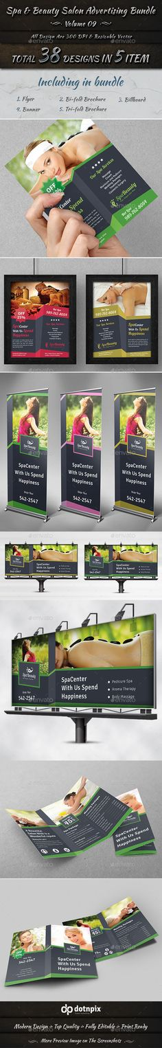 Spa & Beauty Salon Advertising Bundle | Volume 9