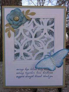 Stampin' Up!  Lattice  Lisa Martz  Flower Trellis