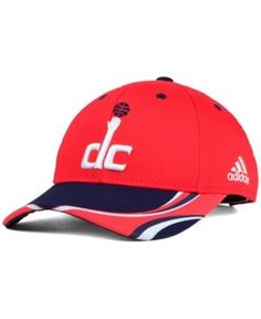 adidas Kids' Washington Wizards Above the Rim Adjustable Cap - Red/Navy Youth