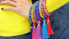Cool Crafts for Teen Girls - Best DIY Projects for Teenage Girls - Rope and Tassel Bangles - http://diyprojectsforteens.com/cool-crafts-for-teen-girls/