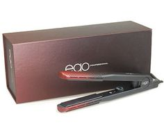 """BEST SELLER: Ego Professional Big Ego Hair Straightener, 1"""" ★Sale $229.95 Reg. $295★ consists of a new technology called HW2, this gives an ability to detox, de-stress and de-frizz hair leaving it polished, healthy and manageable. Straighten or create amazing waves and #curls, all the inspiration you need is now in your hands. #hairflatiron #flatironinghair #curlflathairiron #flatironcurls"""