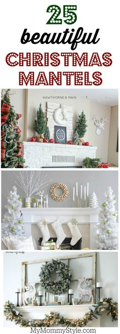 25 beautiful Christmas mantel decorating ideas