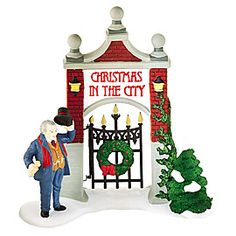 """Department 56: Products - """"A Key To The City"""" Christmas In The City Sign - View Accessories  Wish list"""