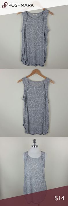 Split stitch waffle tunic Split stitch waffle tunic  Content : 32% rayon 5% polyester 13%cotton Tops Tank Tops