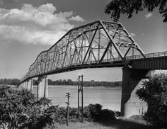 The original Mississippi River bridge at Cape Girardeau was photographed by G.D. Fronabarger, possibly in the 1950s. The bridge was closed when the Bill Emerson Memorial Bridge opened on Dec. 13, 2003.