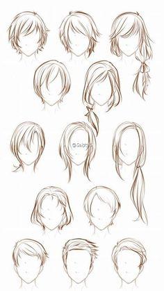 다양한 머리스타일 / 머리카락 그리는 방법 / 헤어스타일 / 머리스타일 종류 / 헤어스타일 종류 : 네이버 블로그 Human Drawing, Drawing Practice, Manga Drawing, Easy Drawings, Pencil Drawings, Hair Art, Hair Styles Drawing, Boy Hair Drawing, Art Reference