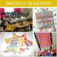 12 fun birthday traditions. These are great ideas on how to make your kiddo feel extra special on their day!