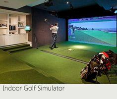 indoor golf simulator!