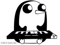 Gunter Playing Keyboard Decal Adventure Time. $8.00, via Etsy.