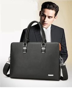 093f507d0ca Men's Large Leather Laptop Briefcase Business Office Messenger Bags Handbags  #fashion #clothing #shoes