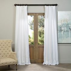 EFF Cottage White Bellino Single Panel Blackout Curtain | Overstock.com Shopping - The Best Deals on Curtains