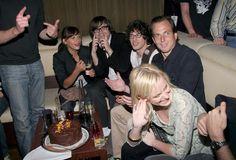 Rashida Jones, Ben Gibbard, Andy Samberg, Will Arnett and Amy Poehler from http://awesomepeoplehangingouttogether.tumblr.com/
