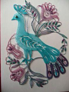 Crochet Birds, Crochet Art, Irish Crochet, Crochet Doilies, Bobbin Lace Patterns, Bird Patterns, Bobbin Lacemaking, Types Of Lace, Lace Art