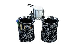 The ScrapMaBob fits securely on all table tops! Just clip in the basket attachment and enjoy the cupholder! Even holds mugs!  http://www.theoriginalscrapbox.com/collections/accessories/products/scrapmabob