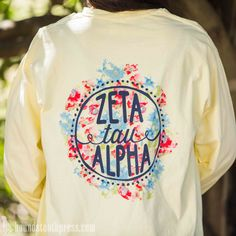 Zeta Tau Alpha Watercolor T-Shirt