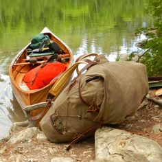 Frost River Old No.7 Pack at a portage near Knife Lake in the BWCAW. www.frostriver.com