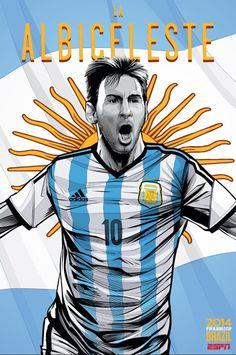 argentina poster copa do mundo 2014
