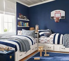 Find children's furniture that your kids will love for their room. Shop Pottery Barn Kids' furniture featuring beds and more in styles that will create the ultimate room. Boy Bedroom Design, Boys Bedroom Decor, Room, Bedroom Sets, Bedroom Design, Shared Rooms, Shared Boys Rooms, Bedroom Set, Kid Room Decor
