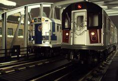 MTH RailKing O Gauge Subways R17 and R142.
