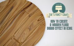 How to make a wooden floor board effect in icing for cake decorating How...