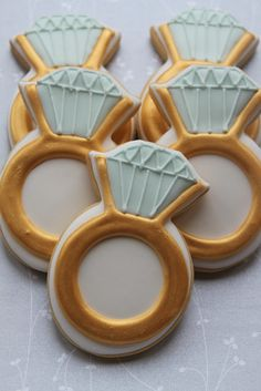 Engagement ring cookies by Miss Biscuit
