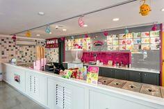 Ice cream shop retail design
