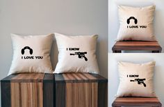 Han Solo & Princess Leia Pillow Covers