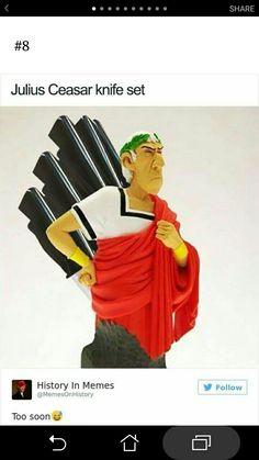 Julius Caesar knife block.