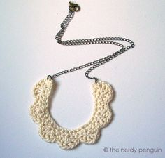 PDF crochet necklace pattern Mignonne Necklace by thenerdypenguin