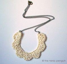 PDF crochet necklace pattern Mignonne Necklace par thenerdypenguin