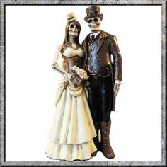 I Do Skeleton Steampunk Gothic Bride Groom Figurine Ornament. FREE UK DELIVERY…