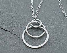 Silver Pendant Necklace Silver Hand Forged by mymusejewelry