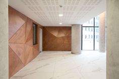 References   WOOD-SKIN Concrete Column, 3d Panels, Small Windows, Behance, Architecture Details, Wood Wall, Layout, Furniture, Wall Panelling