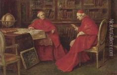 Cardinals studying a map  By: A. Zoffoli