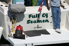 PHOTOS: Boat names for the bold boater >> Scuttlebutt Sailing News Fishing Boat Names, Cool Boat Names, Funny Boat Names, You Funny, Hilarious, Funny Stuff, It's Funny, Boat Humor, Ship Names
