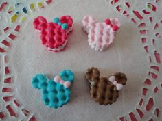 Kawaii colorful mouse cookie with bow cabochons  by RoppongiKitsch, $3.40