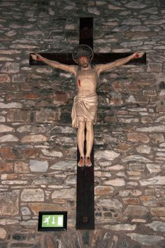 """Crucifix at the exit of a an Irish church that to me states """" i am the way """" which i titled """" a way out """""""