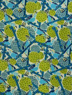 floral upholstery fabrics, bird fabrics, dragonfly fabrics