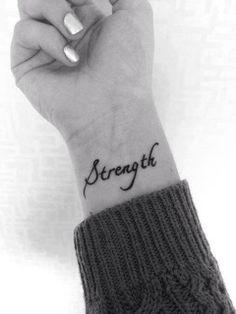 Strength | Fuerza | Pequeños Tatuajes | Muñeca
