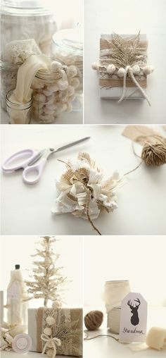 gift wrapping ideas natural elements